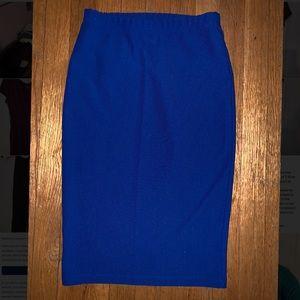 Blue Ribbed Skirt